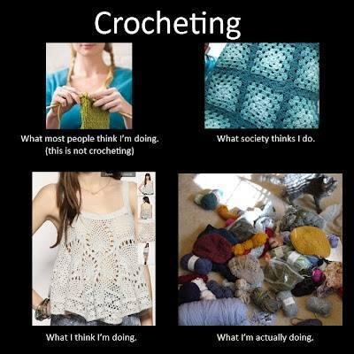Crocheting...